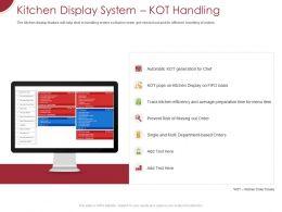Kitchen Display System Kot Handling Ppt Powerpoint Presentation Icon Design Inspiration