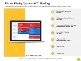 Kitchen Display System KOT Handling Track Kitchen Ppt Powerpoint Presentation Model Show
