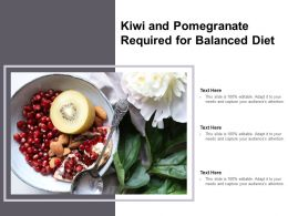 Kiwi And Pomegranate Required For Balanced Diet