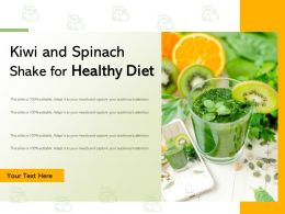 Kiwi And Spinach Shake For Healthy Diet