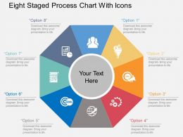 Kj Eight Staged Process Chart With Icons Flat Powerpoint Design