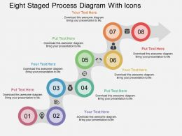 Kk Eight Staged Process Diagram With Icons Flat Powerpoint Design