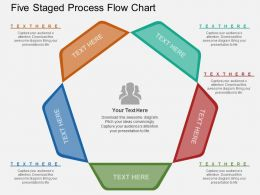 kk Five Staged Process Flow Chart Flat Powerpoint Design