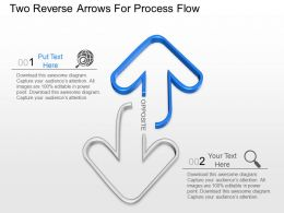 kk Two Reverse Arrows For Process Flow Powerpoint Template