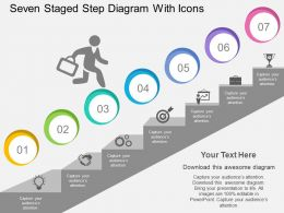 kl Seven Staged Step Diagram With Icons Flat Powerpoint Design