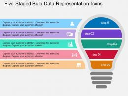 Km Five Staged Bulb Data Representation Icons Flat Powerpoint Design