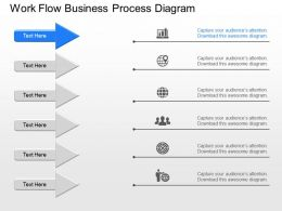 km Work Flow Business Process Diagram Powerpoint Template