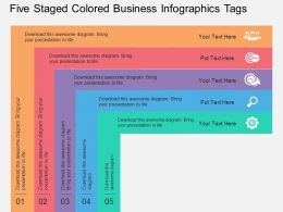 kn_five_staged_colored_business_infographics_tags_flat_powerpoint_design_Slide01