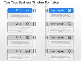 kn Year Tags Business Timeline Formation Powerpoint Template