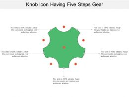 Knob Icon Having Five Steps Gear