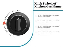 Knob Switch Of Kitchen Gas Flame