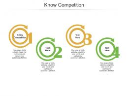 Know Competition Ppt Powerpoint Presentation Inspiration Cpb