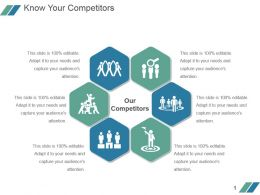 Know Your Competitors Powerpoint Slide Deck