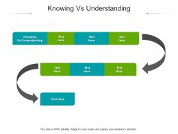 Knowing Vs Understanding Ppt Powerpoint Presentation File Background Designs Cpb