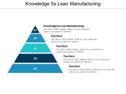 Knowledge 5s Lean Manufacturing Ppt Powerpoint Presentation Infographic Template Structure Cpb