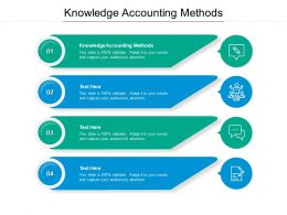 Knowledge Accounting Methods Ppt Powerpoint Presentation Icon Cpb