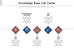 Knowledge Base Call Center Ppt Powerpoint Presentation File Demonstration Cpb