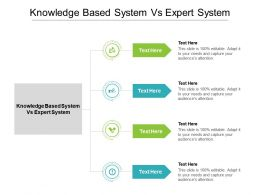 Knowledge Based System Vs Expert System Ppt Powerpoint Presentation Show Display Cpb