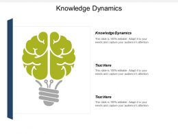 Knowledge Dynamics Ppt Powerpoint Presentation Gallery Example Topics Cpb