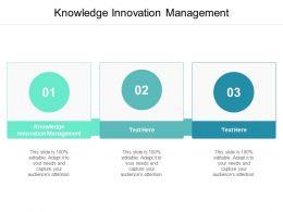 Knowledge Innovation Management Ppt Powerpoint Presentation Slide Cpb