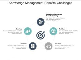 Knowledge Management Benefits Challenges Ppt Powerpoint Presentation Backgrounds Cpb