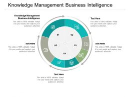 Knowledge Management Business Intelligence Ppt Powerpoint Presentation Show Cpb
