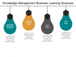 Knowledge Management Business Learning Business Skills Strategy Management Cpb