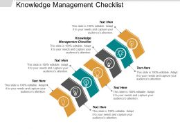 Knowledge Management Checklist Ppt Powerpoint Presentation Pictures Good Cpb