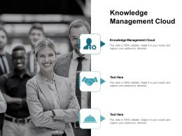 Knowledge Management Cloud Ppt Powerpoint Presentation Infographics Inspiration Cpb