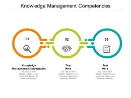 Knowledge Management Competencies Ppt Powerpoint Presentation Infographic Template Themes Cpb