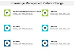 Knowledge Management Culture Change Ppt Powerpoint Presentation Pictures Cpb