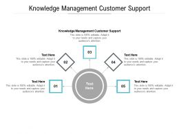Knowledge Management Customer Support Ppt Powerpoint Presentation Slides Infographic Template Cpb