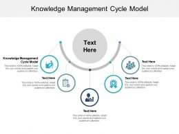 Knowledge Management Cycle Model Ppt Powerpoint Presentation Icon Outline Cpb