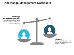 Knowledge Management Dashboard Ppt Powerpoint Presentation Portfolio Tips Cpb