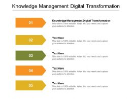 Knowledge Management Digital Transformation Ppt Powerpoint Presentation Slides Clipart Images Cpb
