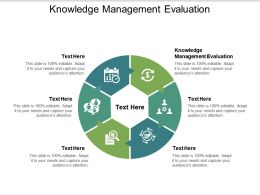 Knowledge Management Evaluation Ppt Powerpoint Presentation Icon Model Cpb