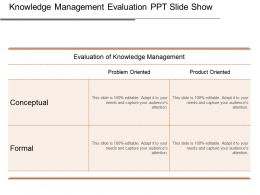 Knowledge Management Evaluation Ppt Slide Show