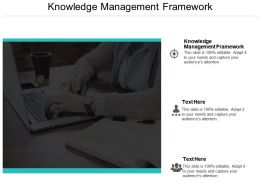 Knowledge Management Framework Ppt Powerpoint Presentation Model Clipart Cpb