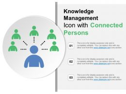 Knowledge Management Icon With Connected Persons