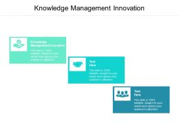 Knowledge Management Innovation Ppt Powerpoint Presentation Model Cpb