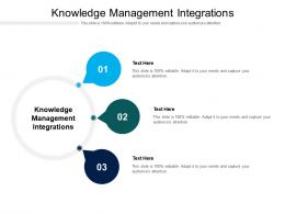 Knowledge Management Integrations Ppt Powerpoint Presentation Model Samples Cpb