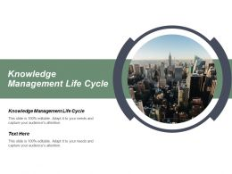 Knowledge Management Life Cycle Ppt Powerpoint Presentation Gallery File Formats Cpb