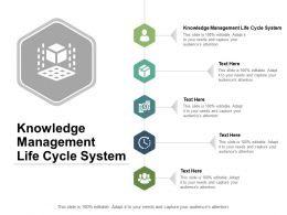Knowledge Management Life Cycle System Ppt Powerpoint Presentation Inspiration Outline Cpb