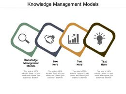Knowledge Management Models Ppt Powerpoint Presentation Gallery Portfolio Cpb