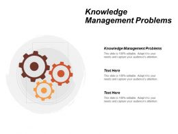 Knowledge Management Problems Ppt Powerpoint Presentation Icon Gallery Cpb