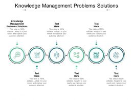 Knowledge Management Problems Solutions Ppt Powerpoint Presentation Styles Cpb
