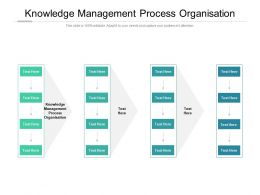 Knowledge Management Process Organisation Ppt Powerpoint Presentation Pictures Background Cpb