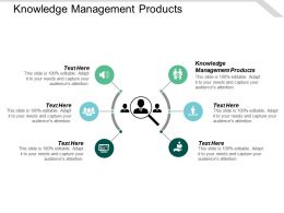 Knowledge Management Products Ppt Powerpoint Presentation Icon Samples Cpb