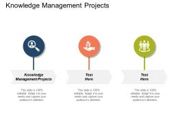 Knowledge Management Projects Ppt Powerpoint Presentation Icon Infographic Template Cpb