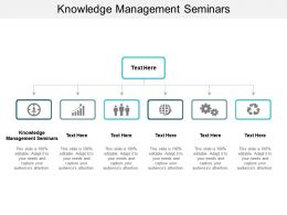 Knowledge Management Seminars Ppt Powerpoint Presentation Ideas Infographic Template Cpb